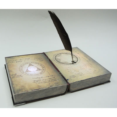 Spell Book with Feather