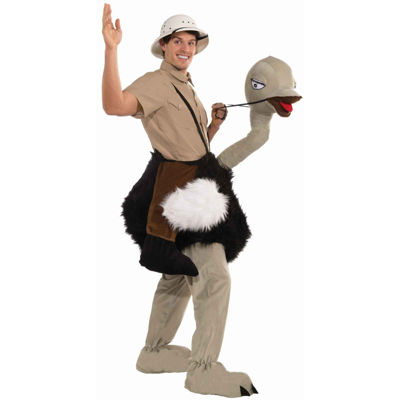 Ride an Ostrich Adult Costume - One Size Fits Most