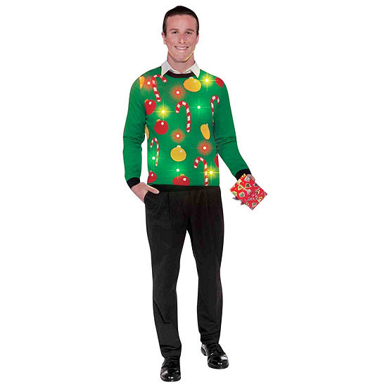 Light Up Ugly Sweater Adult Costume