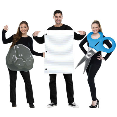 Adult Rock Paper Scissors Costume - One-Size