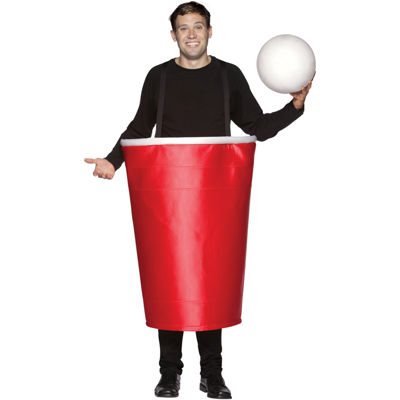 Beer Pong Red Cup Costume Adult