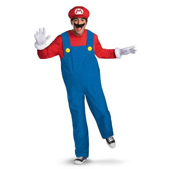 Super Mario Brothers - Mario Adult Costume - X-Large (42-46)