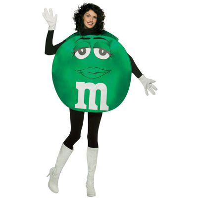 M&M Green Poncho Adult Costume