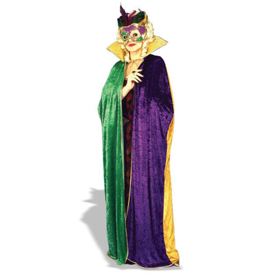 Mardi Gras Cape Adult Costume - One Size Fits Most