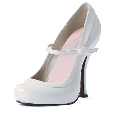 Mary Jane Baby Doll White Adult Shoes
