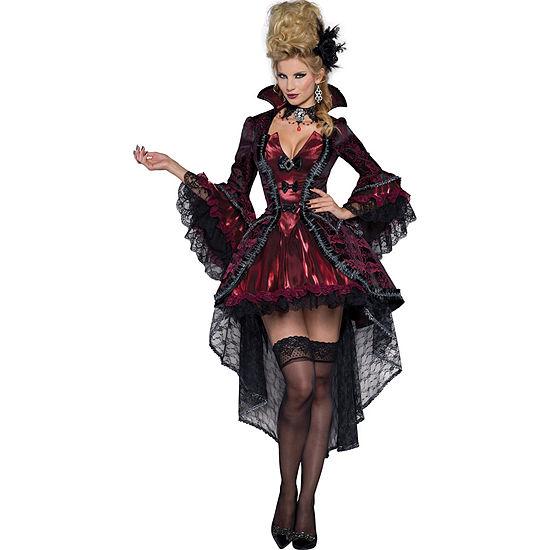 Adult Victorian Vamp Costume - S (6-8)