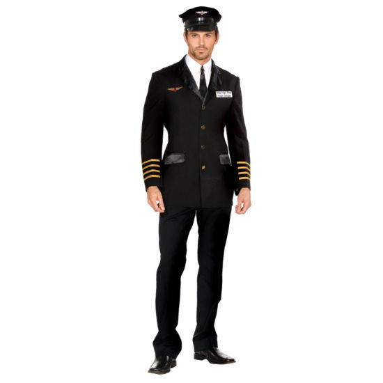 Mile High Pilot Hugh Jorgan Adult Costume