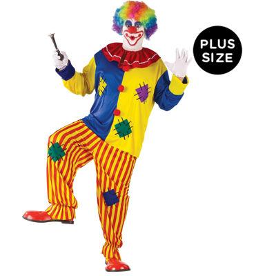 Big Top Clown Plus Adult Costume