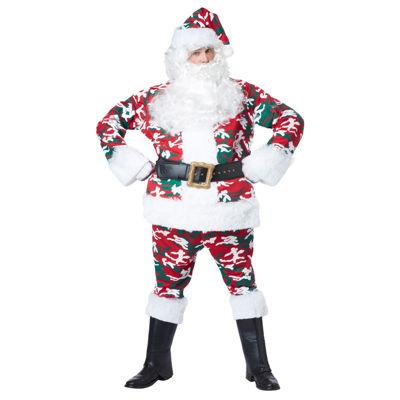 Camo Santa Adult Costume