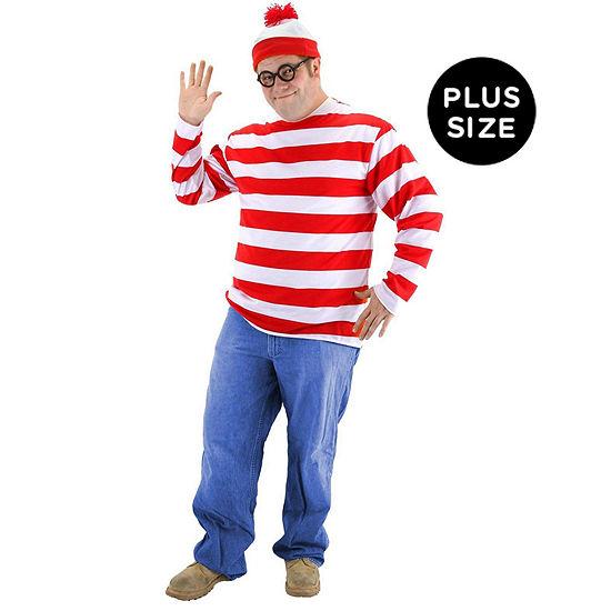 Where's Waldo Plus Adult Costume - XXL (50-52)