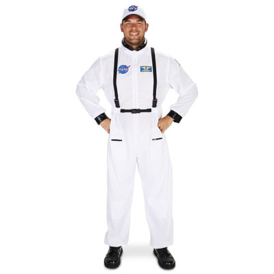 White Astronaut Adult Costume XL