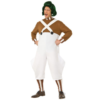 Willy Wonka & the Chocolate Factory Oompa Loompa Deluxe Adult Costume - One Size Fits Most