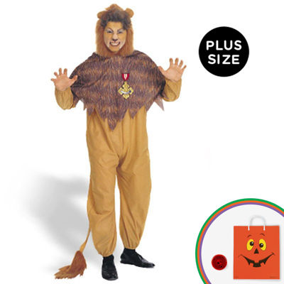 The Wizard of Oz - Cowardly Lion Adult Plus Costume - Plus Size