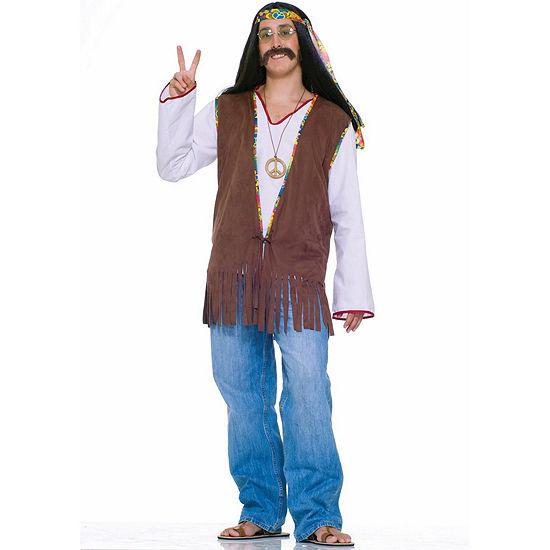 Faux Suede Hippie Vest Adult Costume