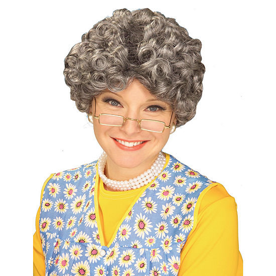 Yo Mom Adult Wig Mixed Grey