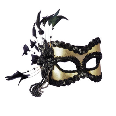Carnival Mask Black/Gold