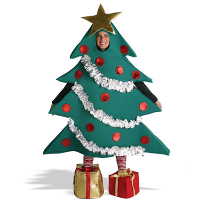 Christmas Tree W/ Shoe Boxes Adult Costume