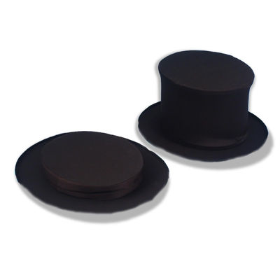 Collapsible Black Top Hat - Adult