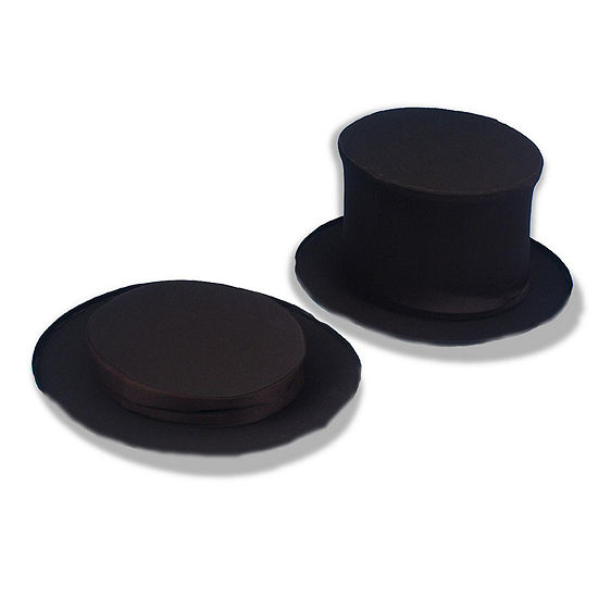 Collapsible Black Top Hat Adult
