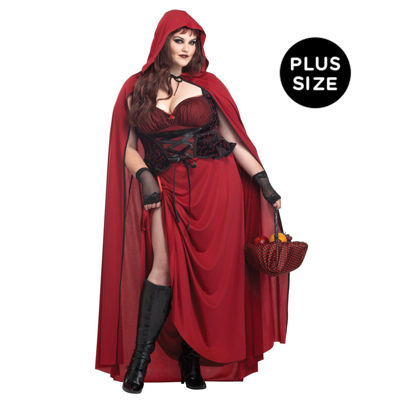 Dark Red Riding Hood Adult Costume