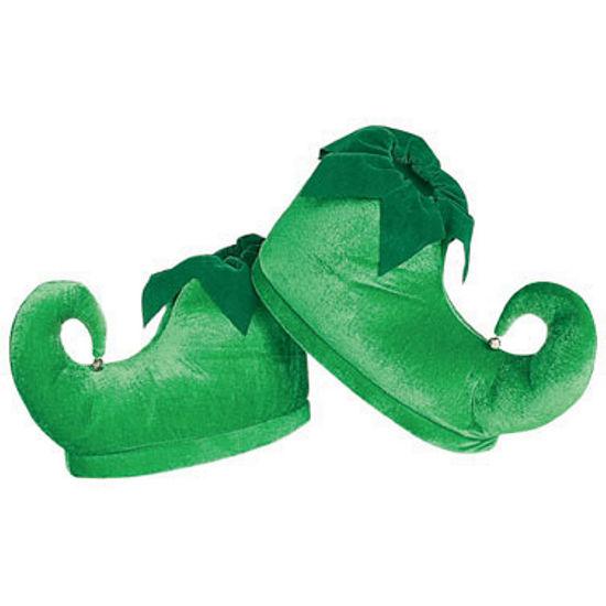 Deluxe Elf Shoes Green Adult