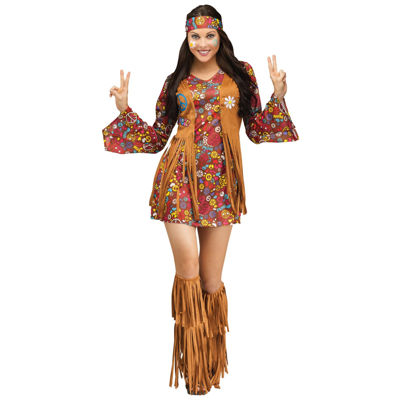 Peace and Love Hippie Adult Costume