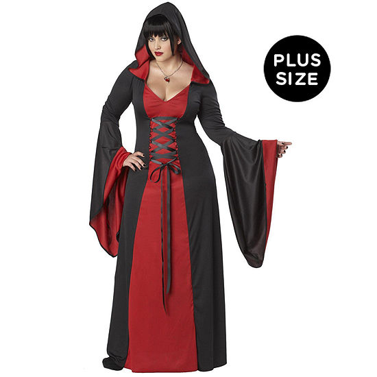 Deluxe Hooded Robe Red Adult Plus Costume