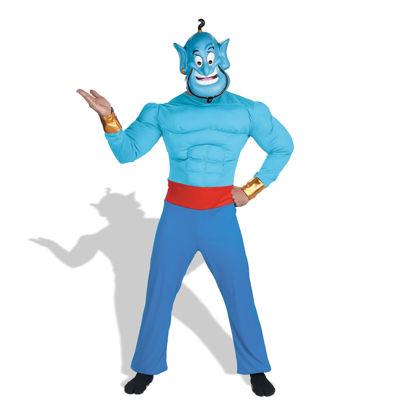 Disney Aladdin Genie Adult Muscle Costume