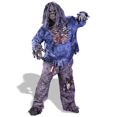 Zombie 3D Adult Costume - One Size Fits Most