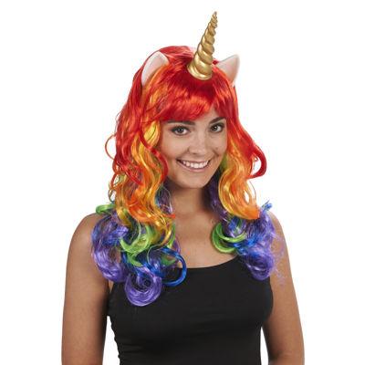 Rainbow Unicorn Adult Wig