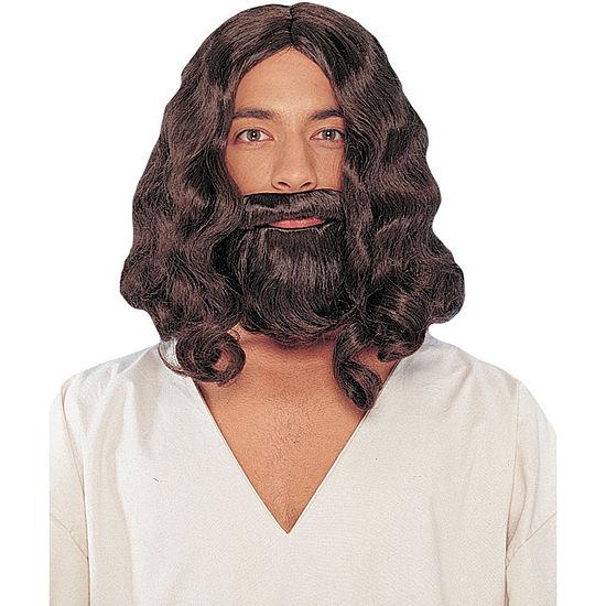 Biblical Wig And Beard - Brown Mens Costume