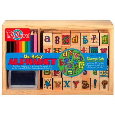 T.S. Shure - Artsy Alphabet Wooden Stamp Set