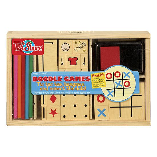 Ts Shure Doodle Games Wooden Stamp Set