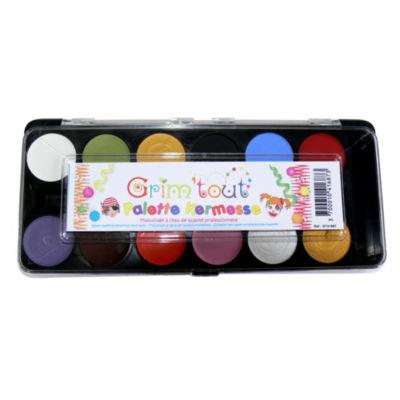 Grim 'tout - 12 Primary Color Face Paints