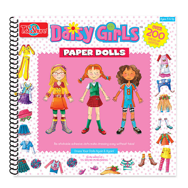 T.S. Shure - Daisy Girls Paper Dolls Activity Book