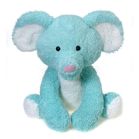Scruffy 22 Inch Turquoise Elephant Plush
