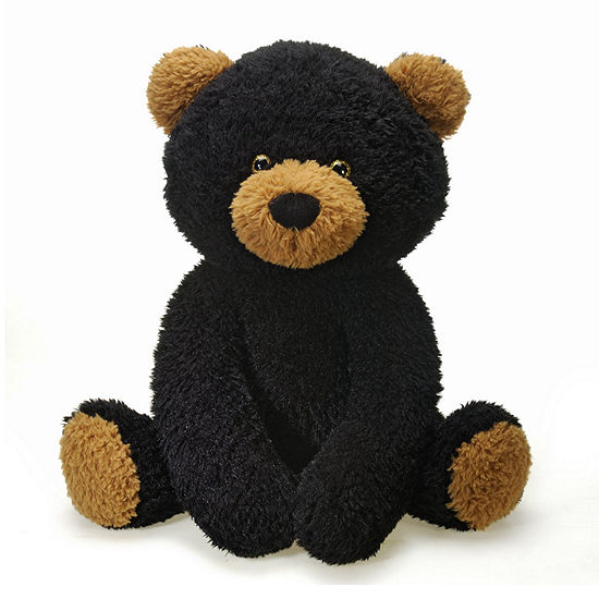 Fiesta - Scruffy 22 Inch Black Bear Plush