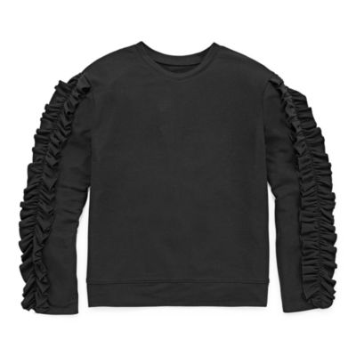 Arizona LS Ruffle Sleeve Sweatshirt - Girls' 7-16 & Plus