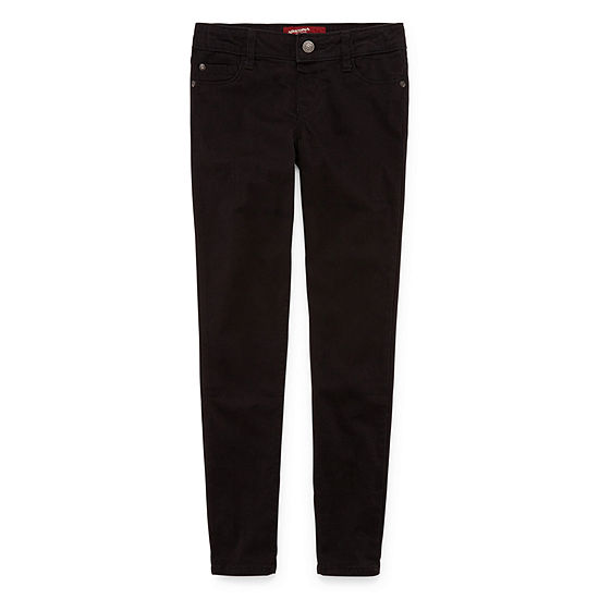 bf81538cbc8fa Arizona Black Jeggings Girls Plus JCPenney
