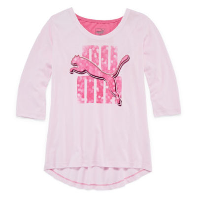 Puma Kids Apparel Graphic T-Shirt-Big Kid Girls