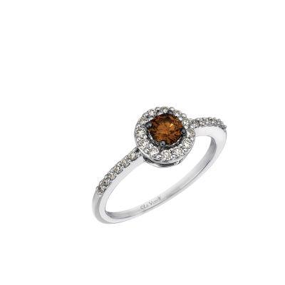 Grand Sample Sale™ by Le Vian® 1/2 CT. T.W. Vanilla Diamonds® & Chocolate Diamonds® 14K Vanilla Gold® Chocolatier® Ring