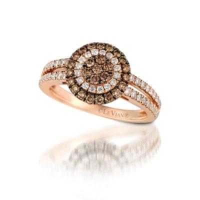 Grand Sample Sale™ by Le Vian® 7/8 CT. T.W. Vanilla Diamonds® & Chocolate Diamonds® 14K Strawberry Gold® Chocolatier® Ring