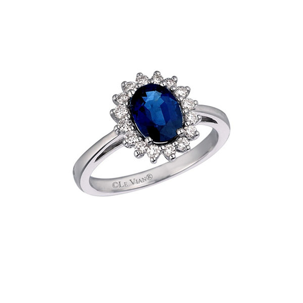 Grand Sample Sale™ by Le Vian® Blueberry Sapphire™ and 1/3 CT. T.W Vanilla Diamonds® set in 14k Vanilla Gold® Ring