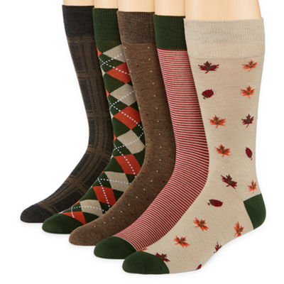 Stafford 5 Pair Crew Socks-Mens