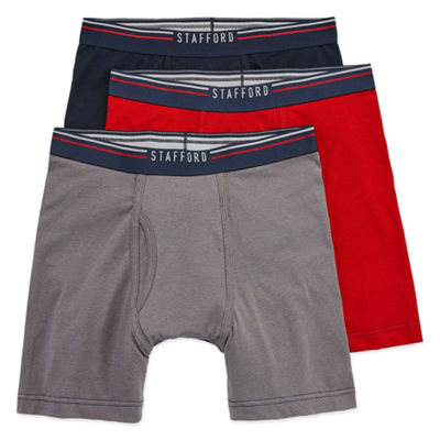 Stafford Life in Motion Perform 3pc. Breathable Mesh Boxer Briefs