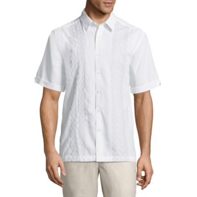 Havanera Short Sleeve Pattern Button-Front Shirt