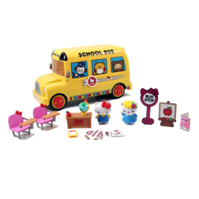 Jada Toys - Hello Kitty Deluxe School Bus Playset