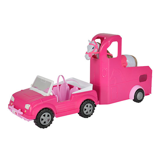 Simba Toys - Steffi Love Jeep and Horse Trailer