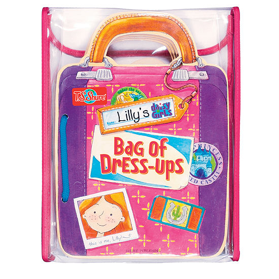 T.S. Shure - Lily's Bag of Dress-Ups Wooden Magnetic Doll and Book Set