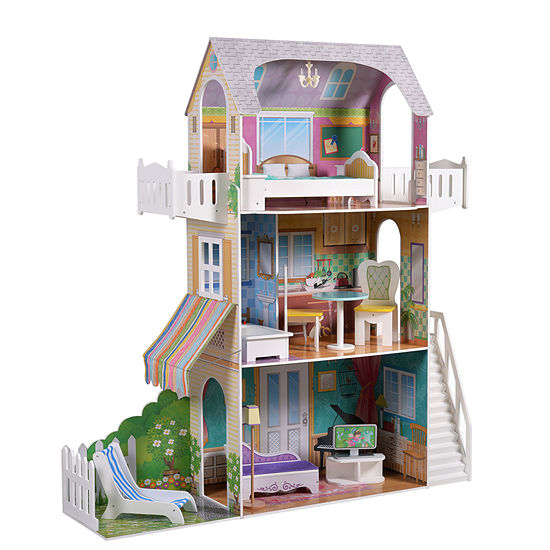 Teamson Kids Garden View Estate Doll House For 18 Inch Dolls